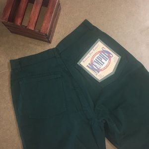 NWT High waisted vintage green jeans
